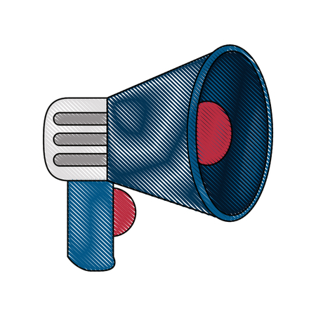 Bullhorn advertising symbol icon vector illustration graphic design