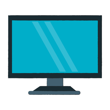 Computer screen technology icon vector illustration graphic design