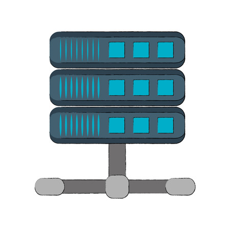 Servers storage database icon vector illustration graphic design Illustration
