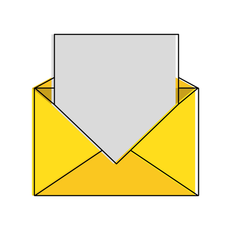 Mail or email symbol icon vector illustration graphic design Illustration
