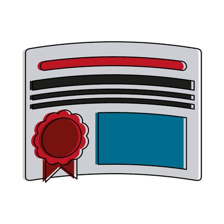 Diploma education certification icon vector illustration graphic design