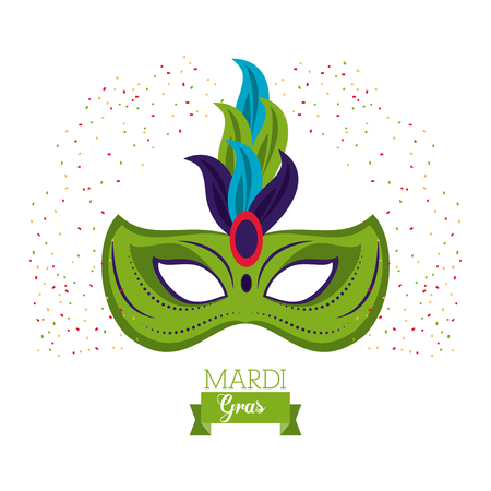 Mardi gras mask icon vector illustration graphic design