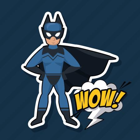 Bat superhero cartoon icon vector illustration graphic design Illustration