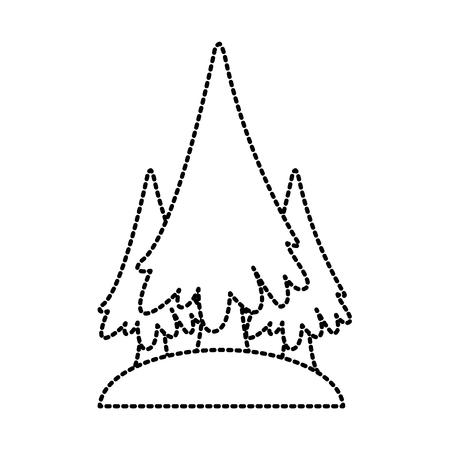 Trees pines symbol icon vector illustration graphic design Vettoriali