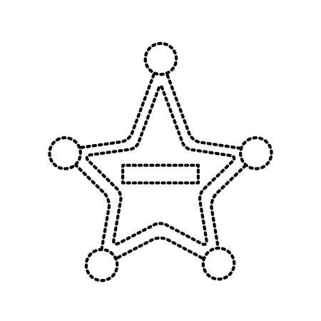 Police badge star shape icon vector illustration graphic design
