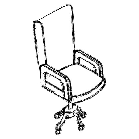 Office chair isolated icon vector illustration graphic design Illustration