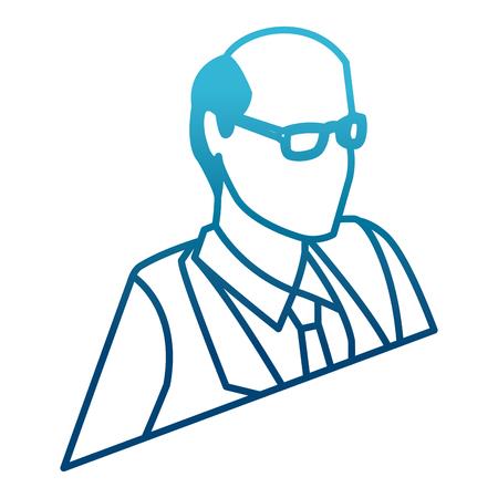 Businessman profile 3d icon vector illustration graphic design Illustration