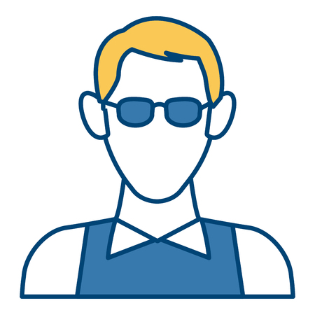 Man with glasses avatar icon vector illustration  graphic  design Vectores