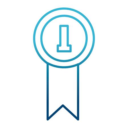 First place medal icon vector illustration  graphic  design Illusztráció
