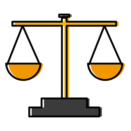 Balance justice symbol icon vector illustration  graphic  design Illustration