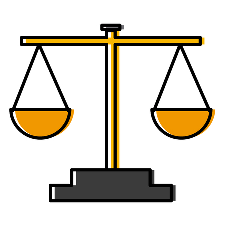 Balance justice symbol icon vector illustration  graphic  design Vettoriali