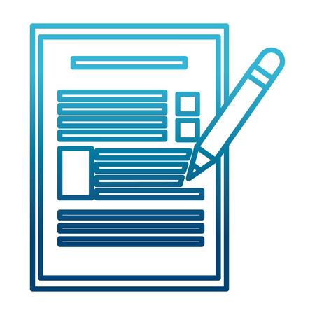 Checklist and pencil icon vector illustration  graphic  design