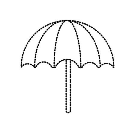 Umbrella weather symbol icon vector illustration graphic design