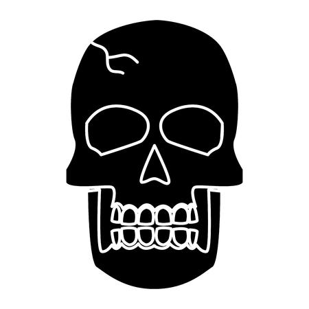 Human skull symbol icon vector illustration graphic design