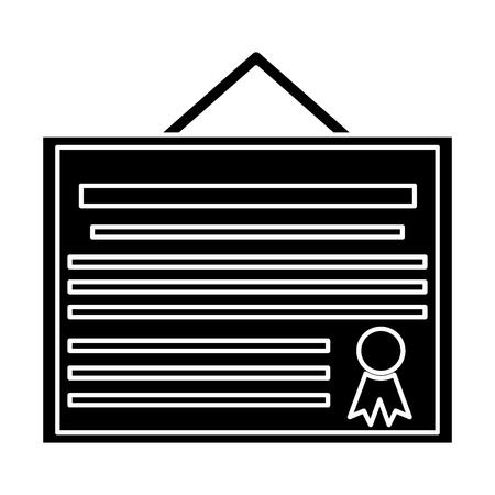 Education diploma symbol icon vector illustration graphic design
