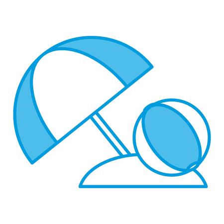 Ballon de plage symbole icône vector illustration graphisme. Banque d'images - 92225533