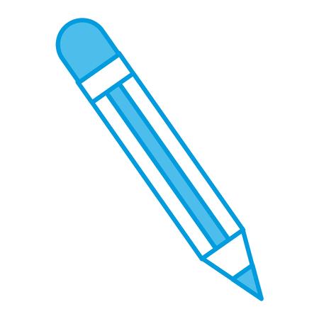 Wooden pencil symbol icon vector illustration graphic design. 일러스트