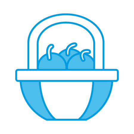 Apples in the basket symbol icon vector illustration graphic design.
