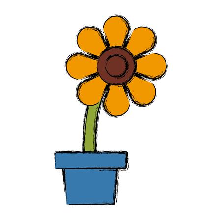 Flower in pot symbol icon vector illustration graphic design.