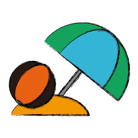 Beach ball symbol icon vector illustration graphic design.