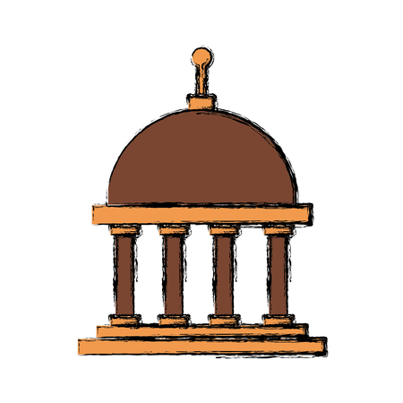 Greek building symbol icon vector illustration graphic design.