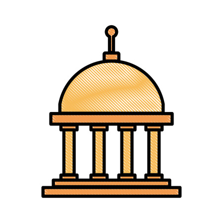 Greek building symbol icon vector illustration graphic design