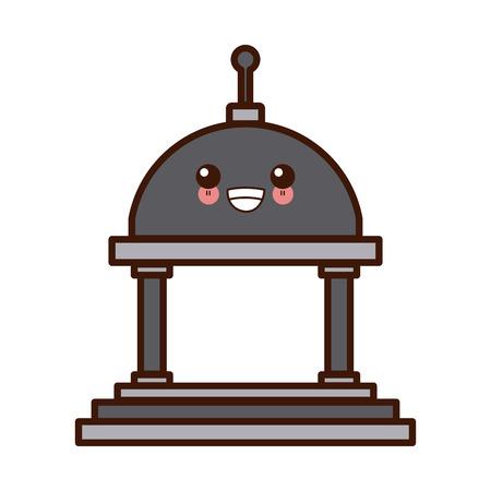 Greek building symbol cute icon illustration graphic design. Vectores