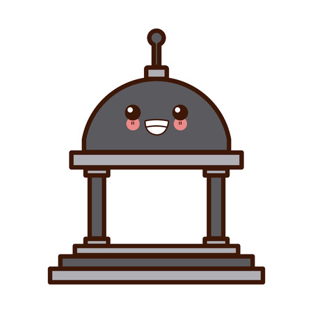 Greek building symbol cute icon illustration graphic design. Ilustração
