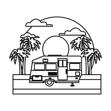 2 275 motorhome stock illustrations cliparts and royalty free Used Airstream Class B Motorhome trailer home isolated on sunset landscape icon vector illustration