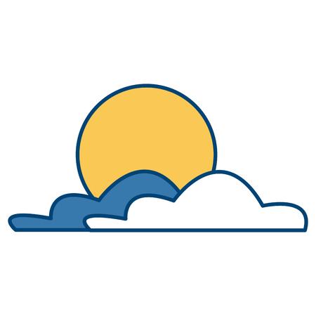 太陽と雲アイコンベクトルイラストグラフィックデザイン