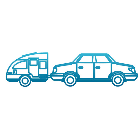 Car sideview vehicle Vector illustration.