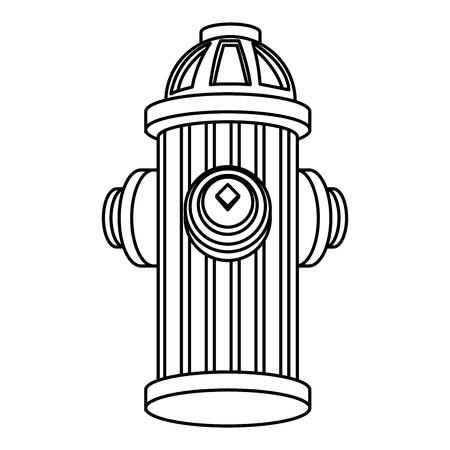 Diseño aislado del ejemplo del vector del icono del símbolo del hidrante