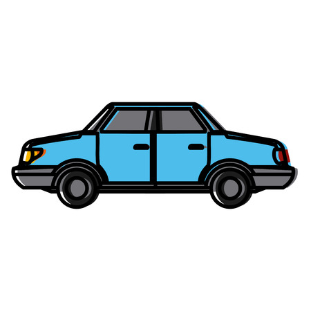 Car sideview vehicle icon vector illustration graphic design