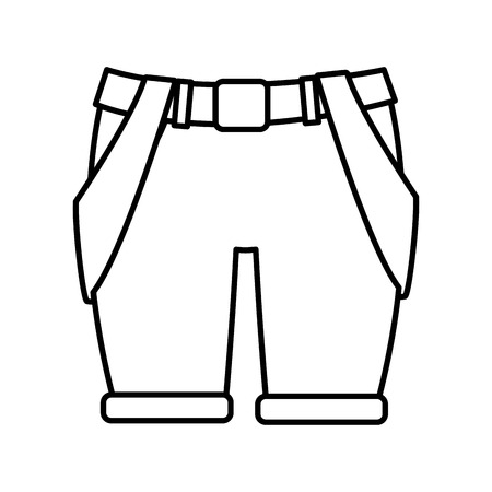 Explorer pants isolated icon vector illustrationgraphic design