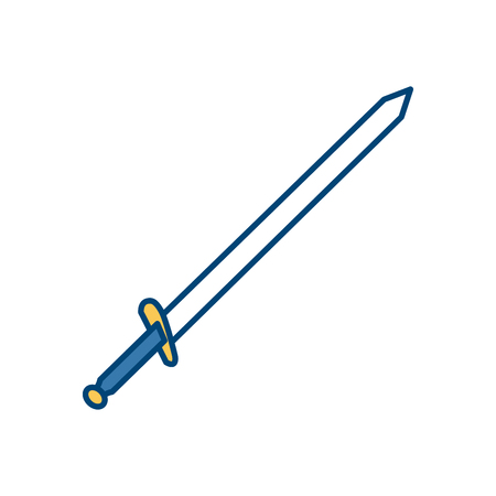 Sword medieval weapon icon vector illustration