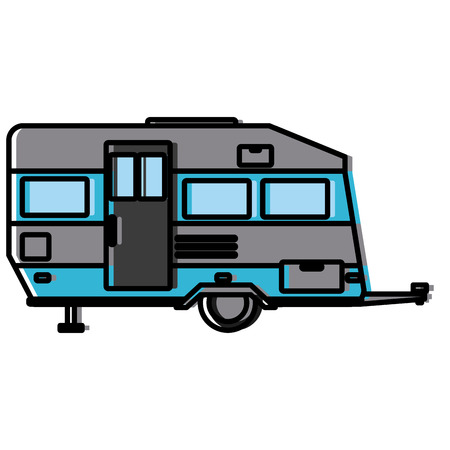 Trailer home isolated icon vector illustration graphic design