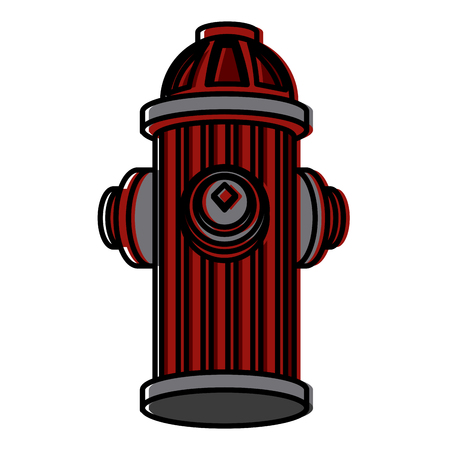 Hydrant icon illustration. Vettoriali