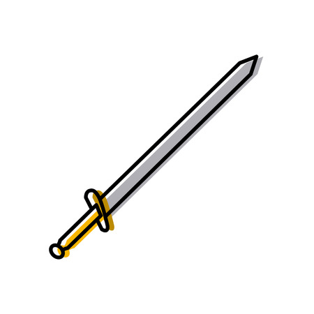 Sword medieval weapon icon vector illustration graphic design