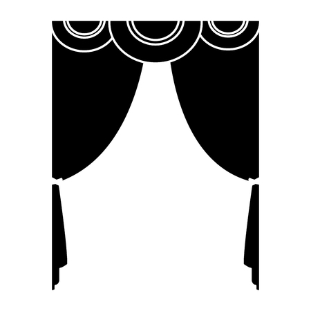 theater curtains isolated icon vector illustration graphic design Illustration