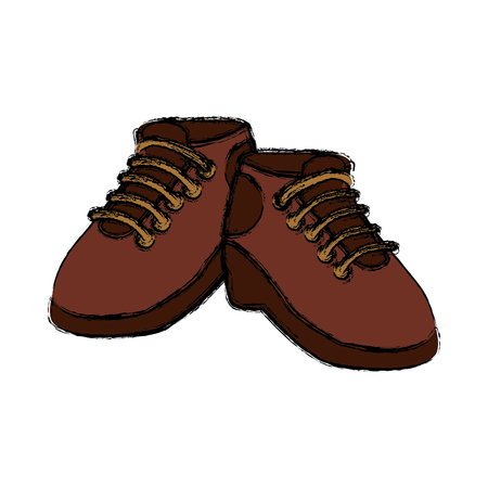 Camping shoes isolated icon vector illustration graphic design Illustration