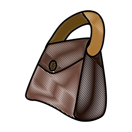 Leather fashion purse icon illustration graphic design.