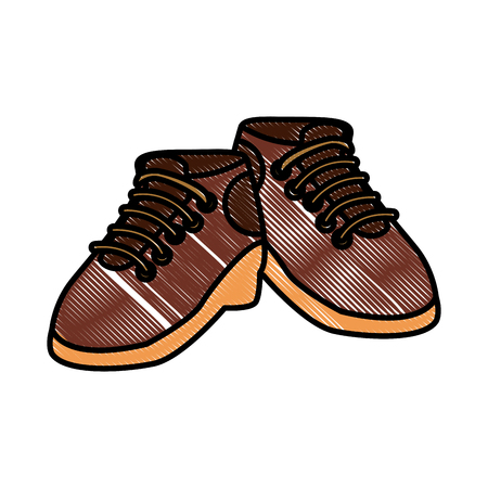 Camping shoes isolated icon vector illustration graphic design.