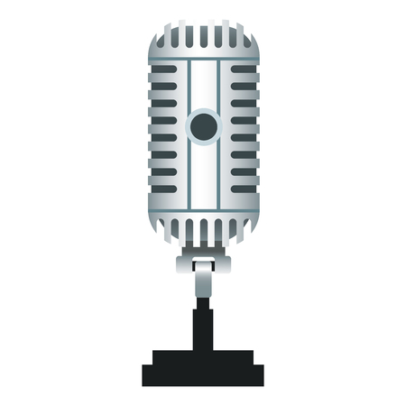 Vintage microphone isolated icon illustration graphic design. Çizim