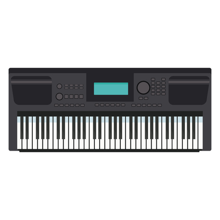 Music keyboard instrument icon illustration graphic design.
