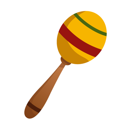 Maraca music instrument icon vector illustration graphic design