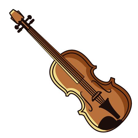Violin music instrument icon vector illustration graphic design