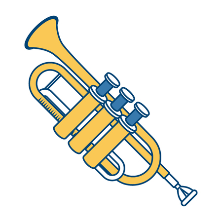 Trumpet music instrument icon  illustration graphic design.