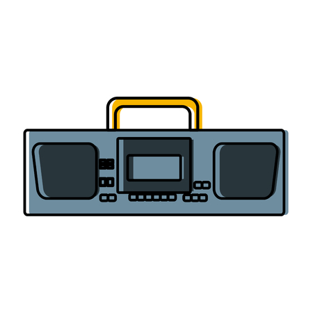Radio stereo vintage icon illustration graphic design.