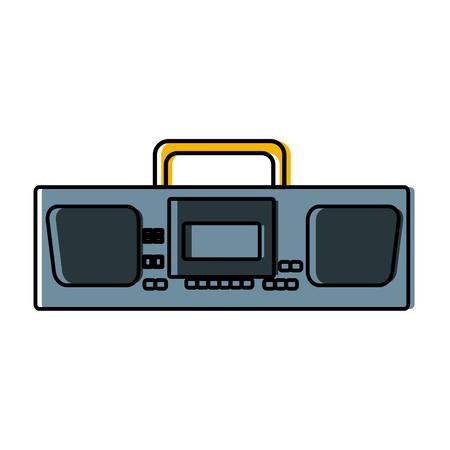 Radio stereo vintage icon illustration graphic design.