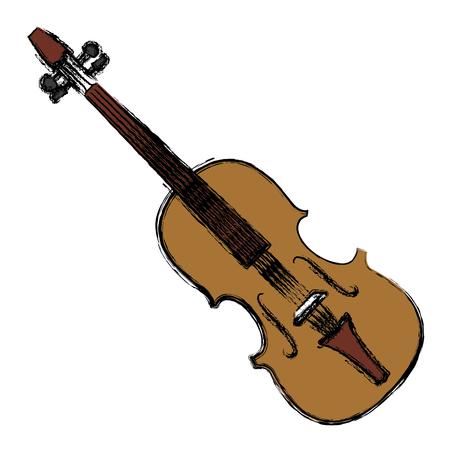 Violin music instrument icon illustration graphic design. Illustration